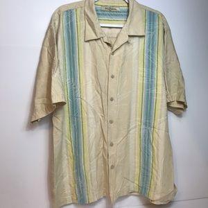 Tommy Bahama 100% silk shirt shirt sleeves